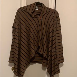 Draped striped sweater